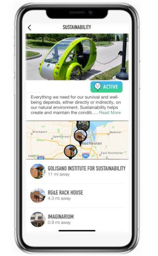 Sustainability tour page